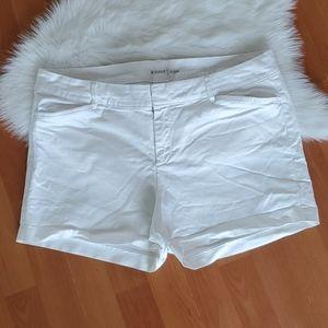 Old Navy womens white pixie shorts size 12